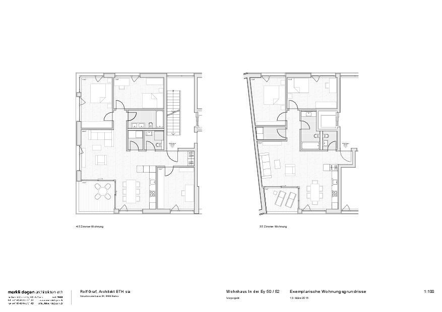 Typologies des logements  Mehrfamilienhaus «In der Ey» de merkli degen architekten eth
