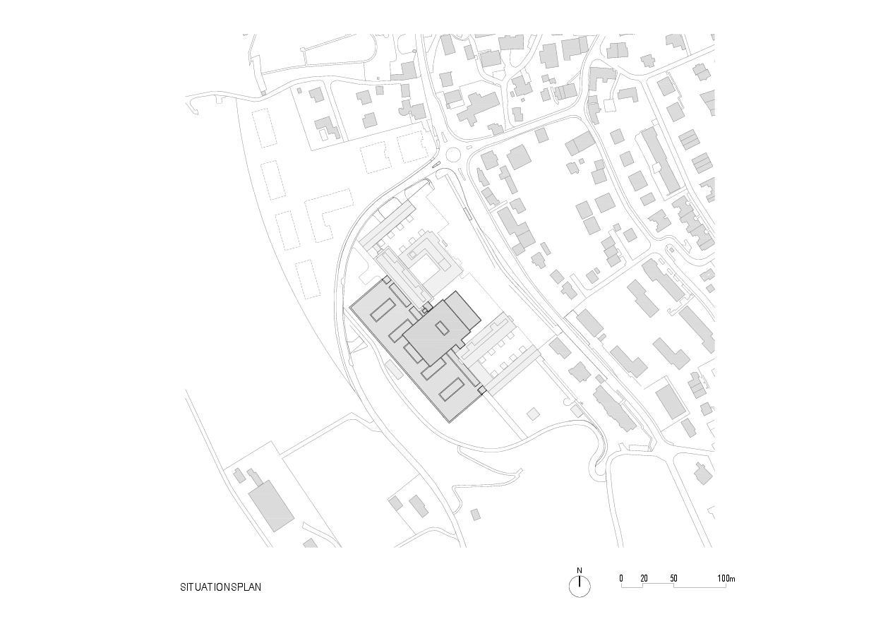 Situationsplan Rehaklinik Bellikon von Architekten Generalplaner<br/>