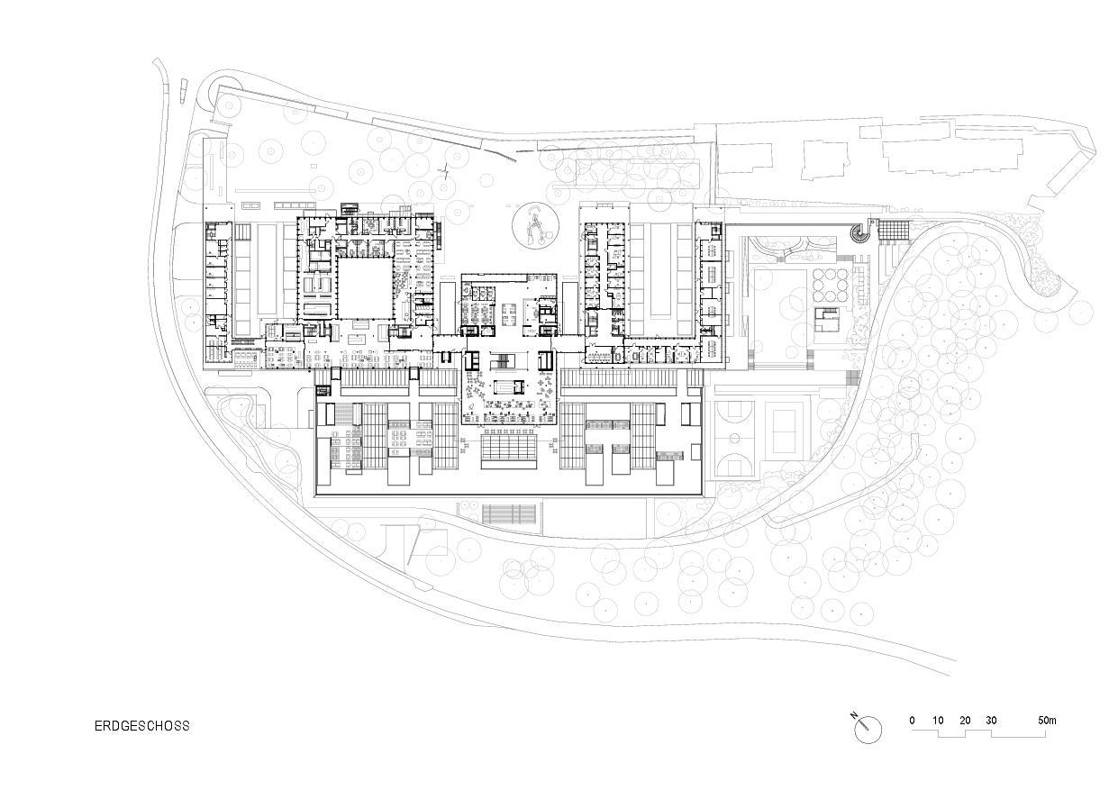 Rez-de-chaussée Rehaklinik Bellikon de Architekten Generalplaner<br/>