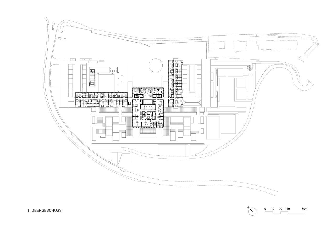 1er étage Rehaklinik Bellikon de Architekten Generalplaner<br/>
