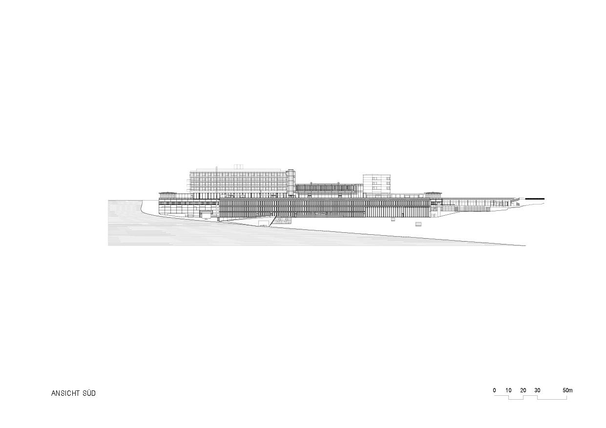 Vue sud Rehaklinik Bellikon de Architekten Generalplaner<br/>
