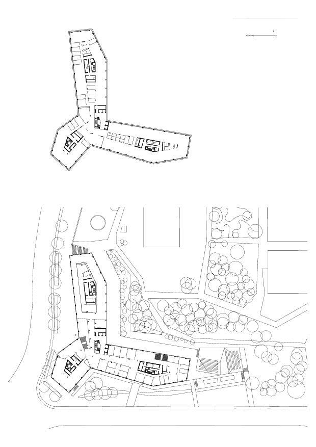 Rez-de-chaussée supérieur Campus Santé à Genève de LRS Architectes SA