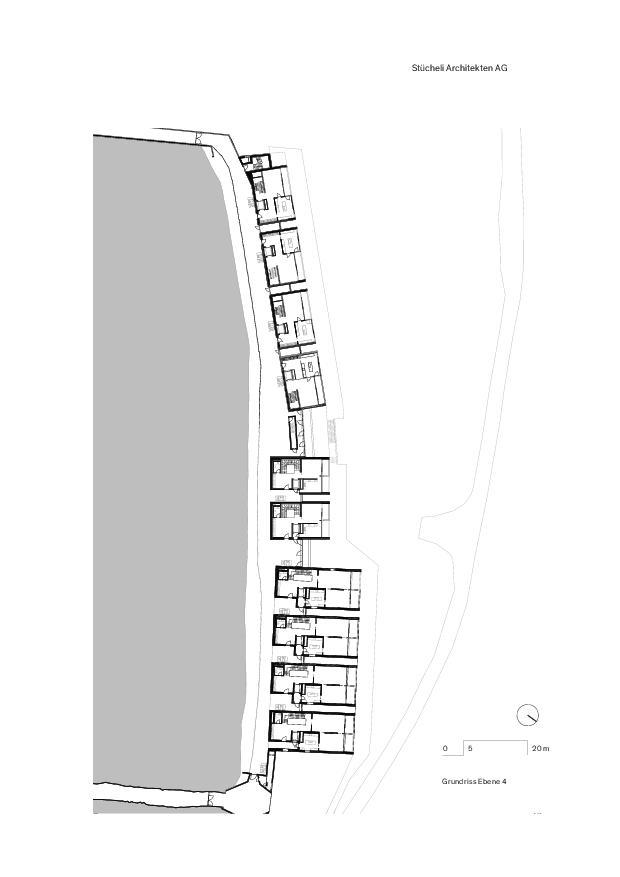 Grundriss Ebene 4 Lakeview Residence Villas de Stücheli Architekten AG