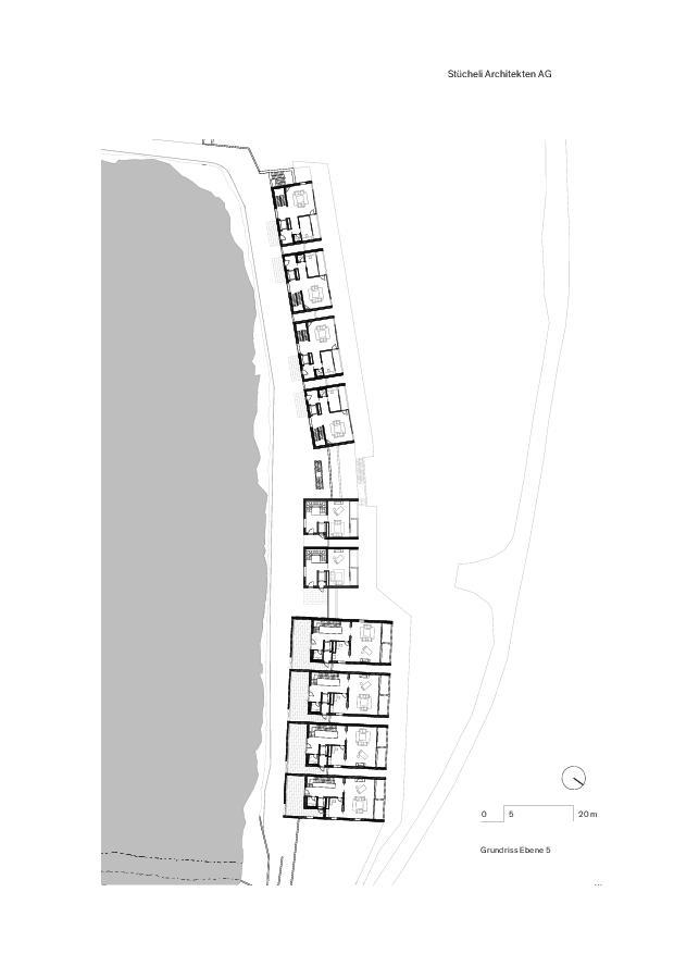 Grundriss Ebene 5 Lakeview Residence Villas de Stücheli Architekten AG