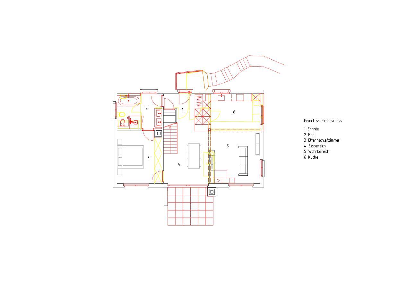 Erdgeschoss Komplettsanierung eines 1950er-Jahre-Hauses von RAUMTAKT GmbH