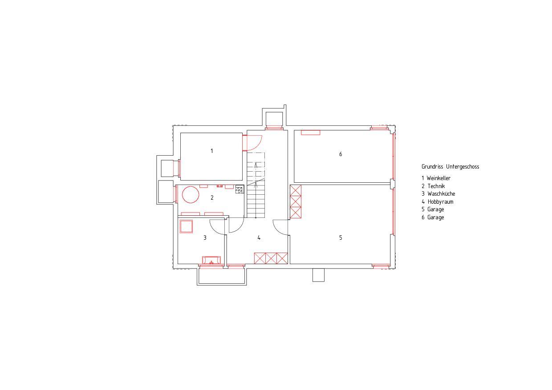 Untergeschoss Komplettsanierung eines 1950er-Jahre-Hauses von RAUMTAKT GmbH