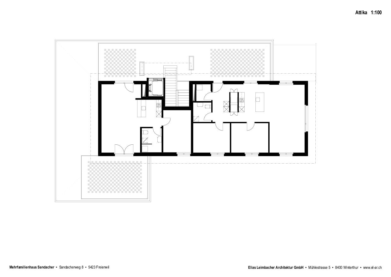 Attika Neubau mit Gestaltungsplan von Elias Leimbacher Architektur GmbH