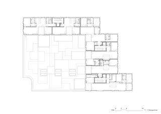 Plan 1er étage  Wohnhaus Im Forster de EM2N | Mathias Müller | Daniel Niggli<br>Architekten AG | ETH | SIA | BSA