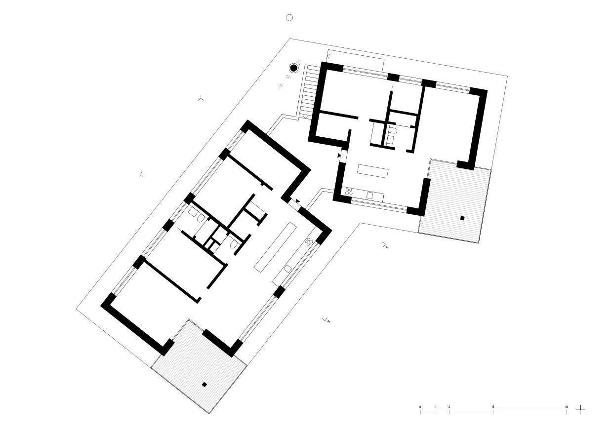 Obergeschoss Wohnhaus vis-à-vis von luna productions GmbH
