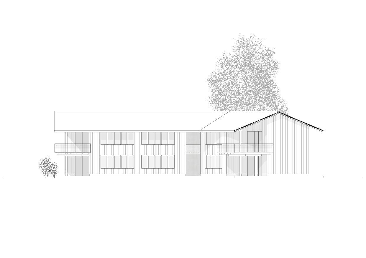 Ansicht SüdOst Wohnhaus vis-à-vis von luna productions GmbH