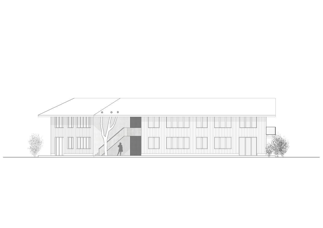 Ansicht NordWest Wohnhaus vis-à-vis von luna productions GmbH