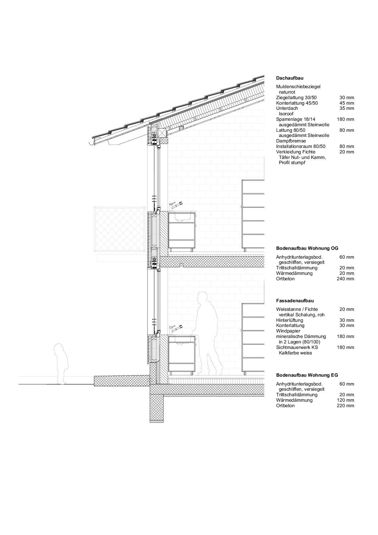 Detailschnitt Wohnhaus vis-à-vis von luna productions GmbH