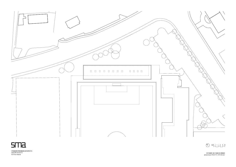 Situationsplan Stade de Vernier von STENDARDO MENNINGEN ARCHITECTES