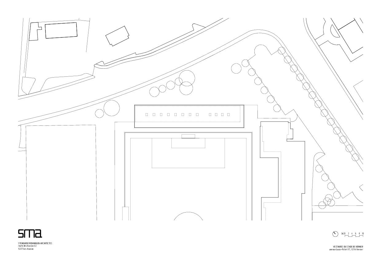 situation Stade de Vernier de STENDARDO MENNINGEN ARCHITECTES