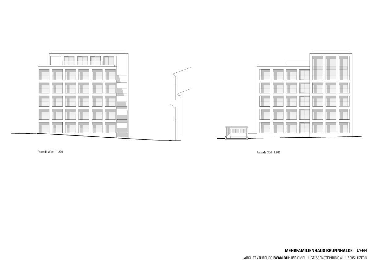 Ansichten Stadthaus Brunnhalde de Architekturbüro Iwan Bühler GmbH