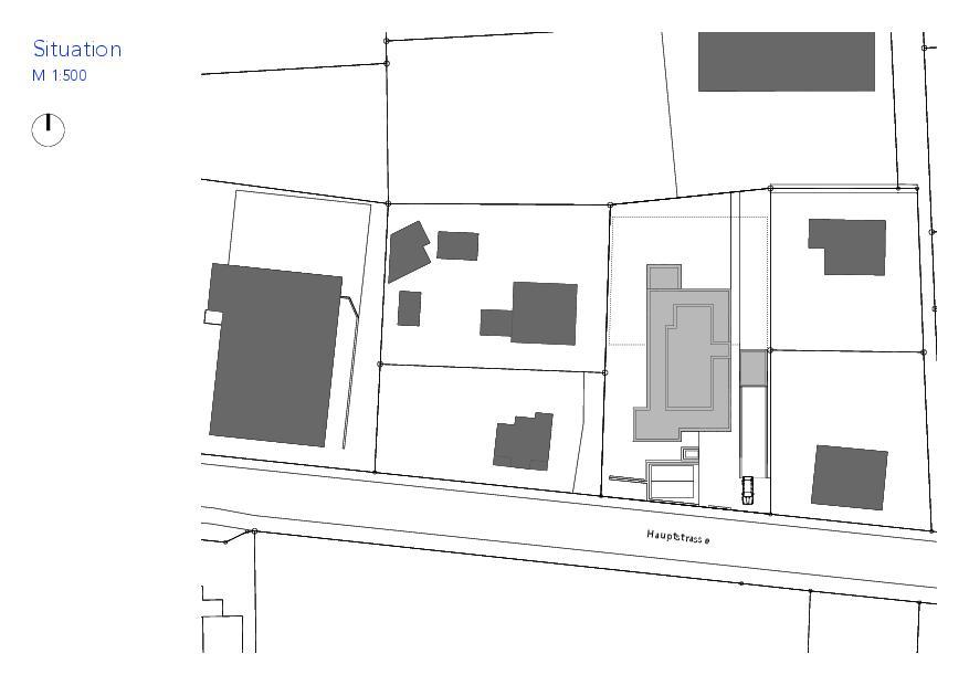Situation Haus VIVO de Wyss Architektur + Bauleitung GmbH