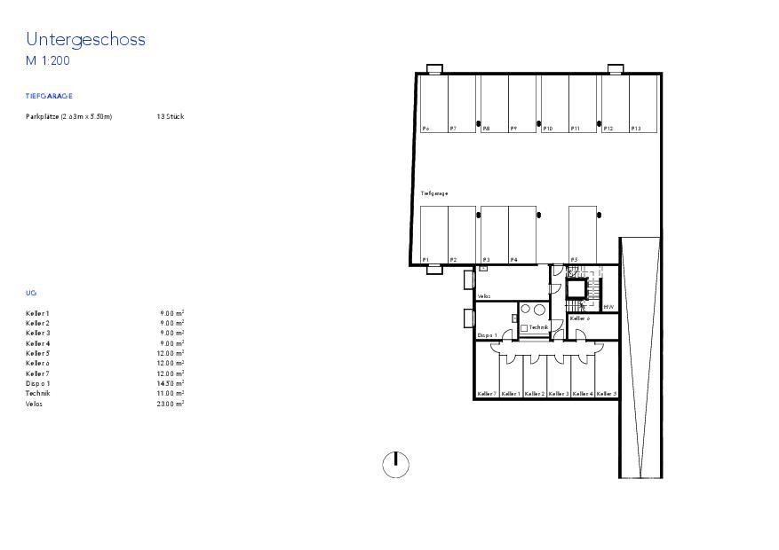 Sous-sol Haus VIVO de Wyss Architektur + Bauleitung GmbH