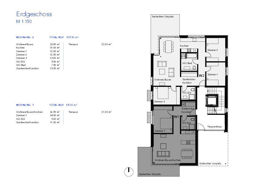 Rez-de-chaussée Haus VIVO de Wyss Architektur + Bauleitung GmbH