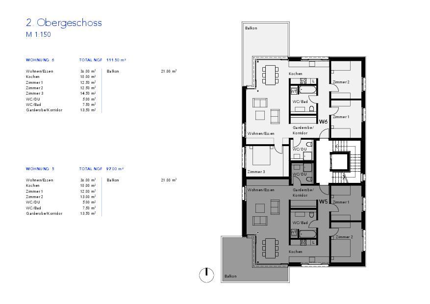 Niveau 2 Haus VIVO de Wyss Architektur + Bauleitung GmbH
