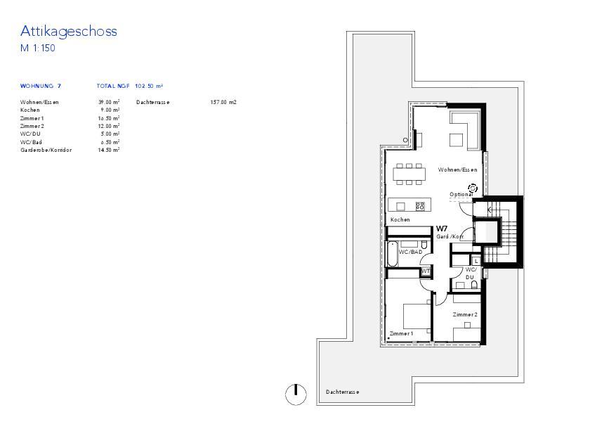 Attique Haus VIVO de Wyss Architektur + Bauleitung GmbH