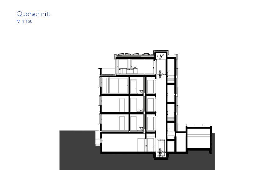 Coupe transversale Haus VIVO de Wyss Architektur + Bauleitung GmbH