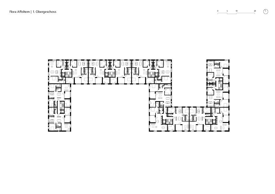 1. Obergeschoss Flora Affoltern von KMP Architektur AG