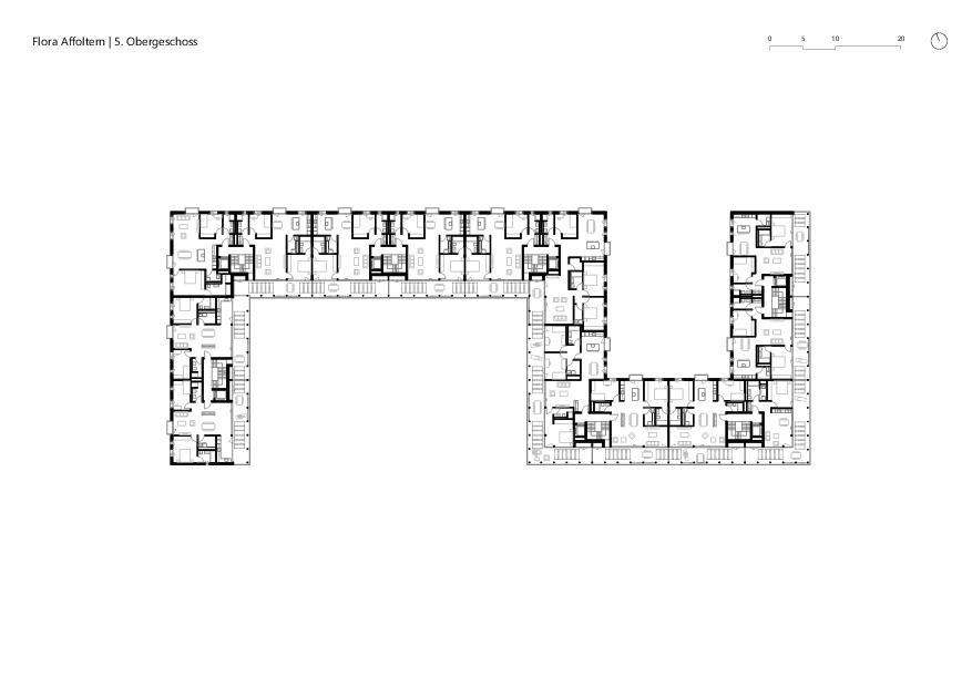 5. Obergeschoss Flora Affoltern von KMP Architektur AG