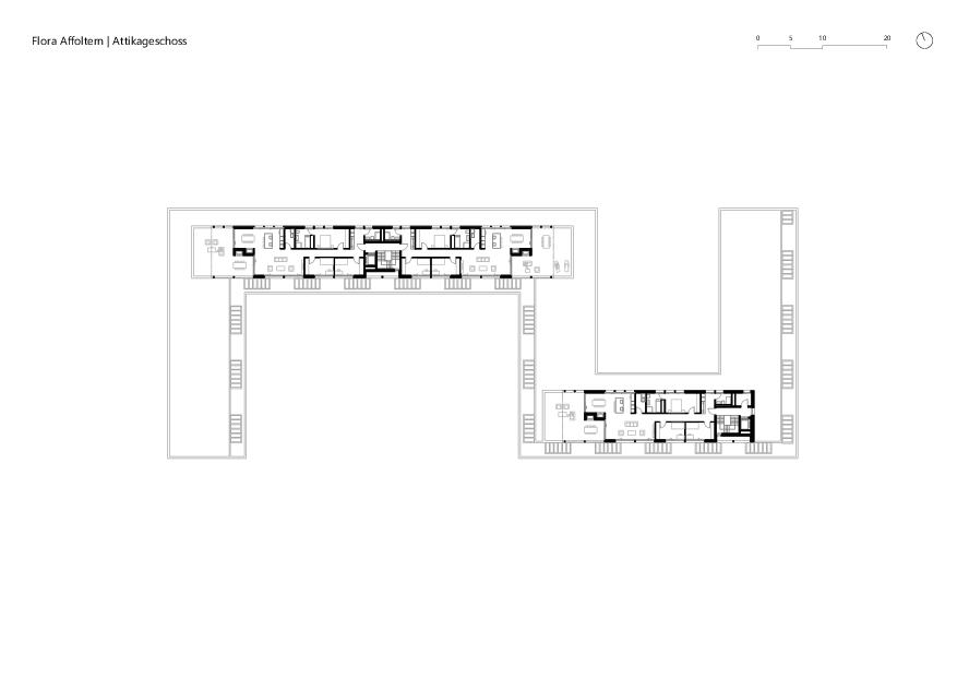 Attikageschoss Flora Affoltern von KMP Architektur AG