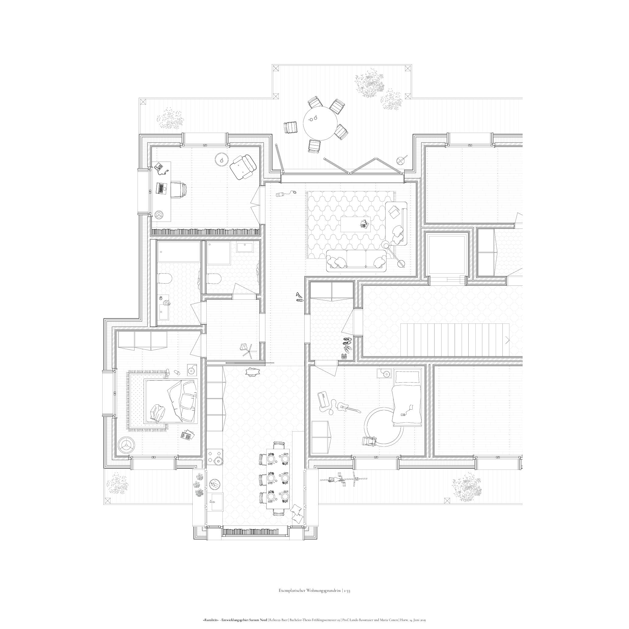 Plan des appartements 1-33