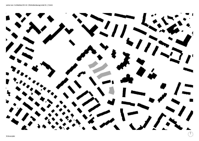 """Plan de masse Wohnüberbauung """"In der Ey"""" de atelier ww Architekten SIA AG"""