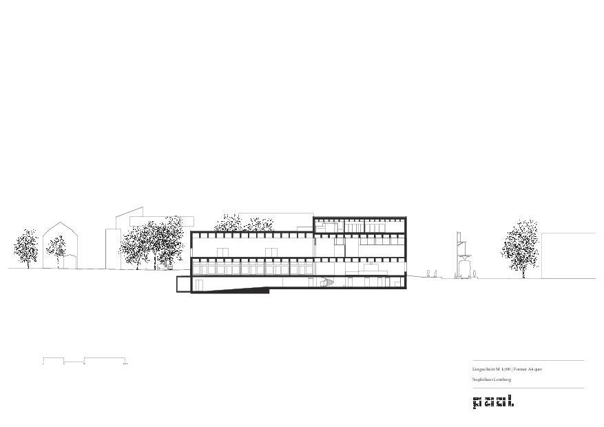 Längsschnitt Museum Stapferhaus Lenzburg von pool Architekten ETH SIA BSA