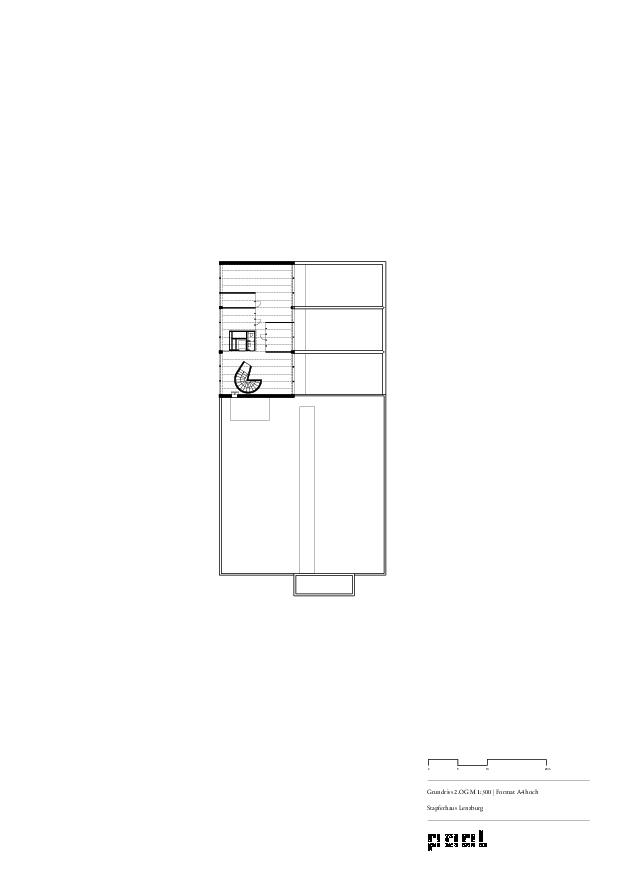 Grundriss 2.OG Museum Stapferhaus Lenzburg von pool Architekten ETH SIA BSA