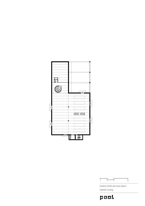 Grundriss 1.OG Museum Stapferhaus Lenzburg von pool Architekten ETH SIA BSA