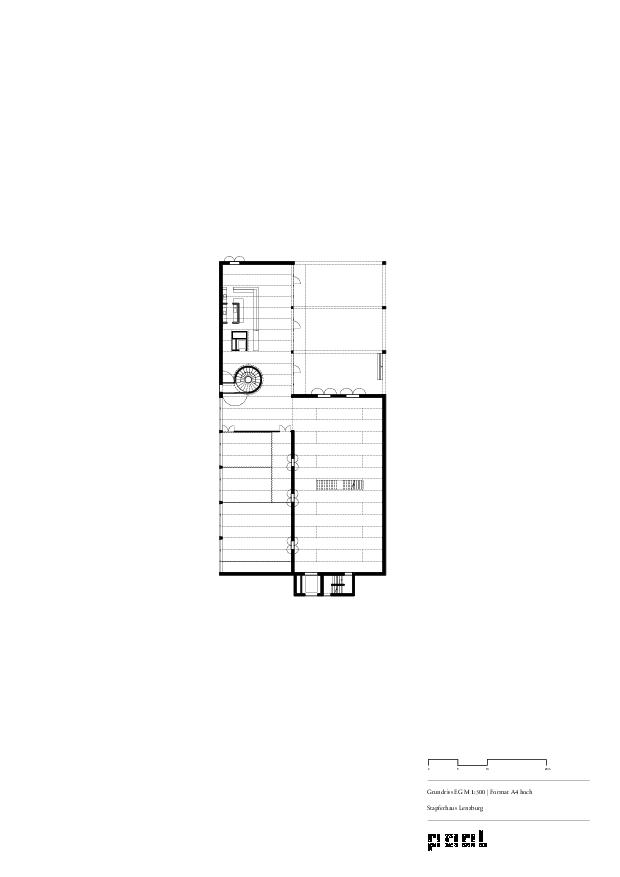 Grundriss Erdgeschoss Museum Stapferhaus Lenzburg von pool Architekten ETH SIA BSA