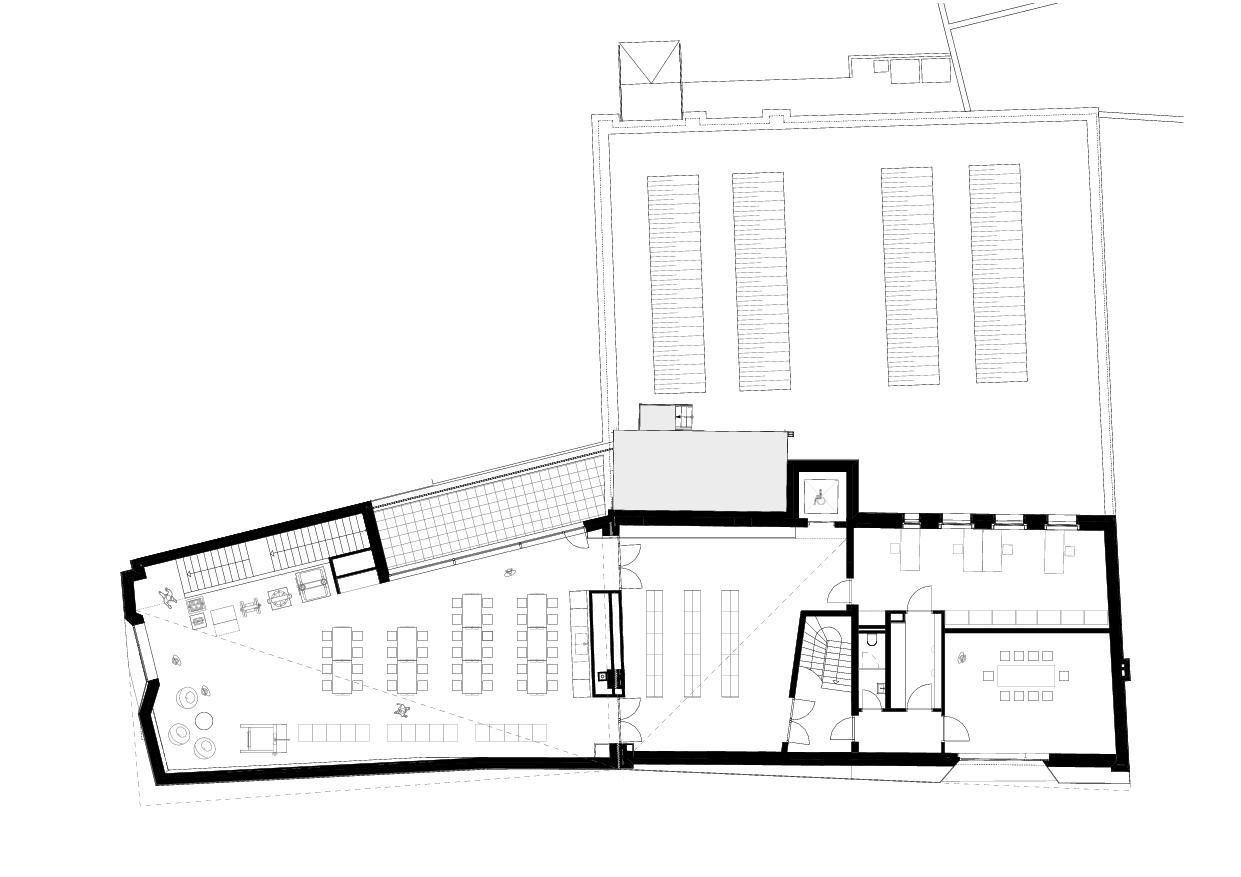 Grundriss Obergeschoss Papiermuseum Düren von Hollenbeck Architektur