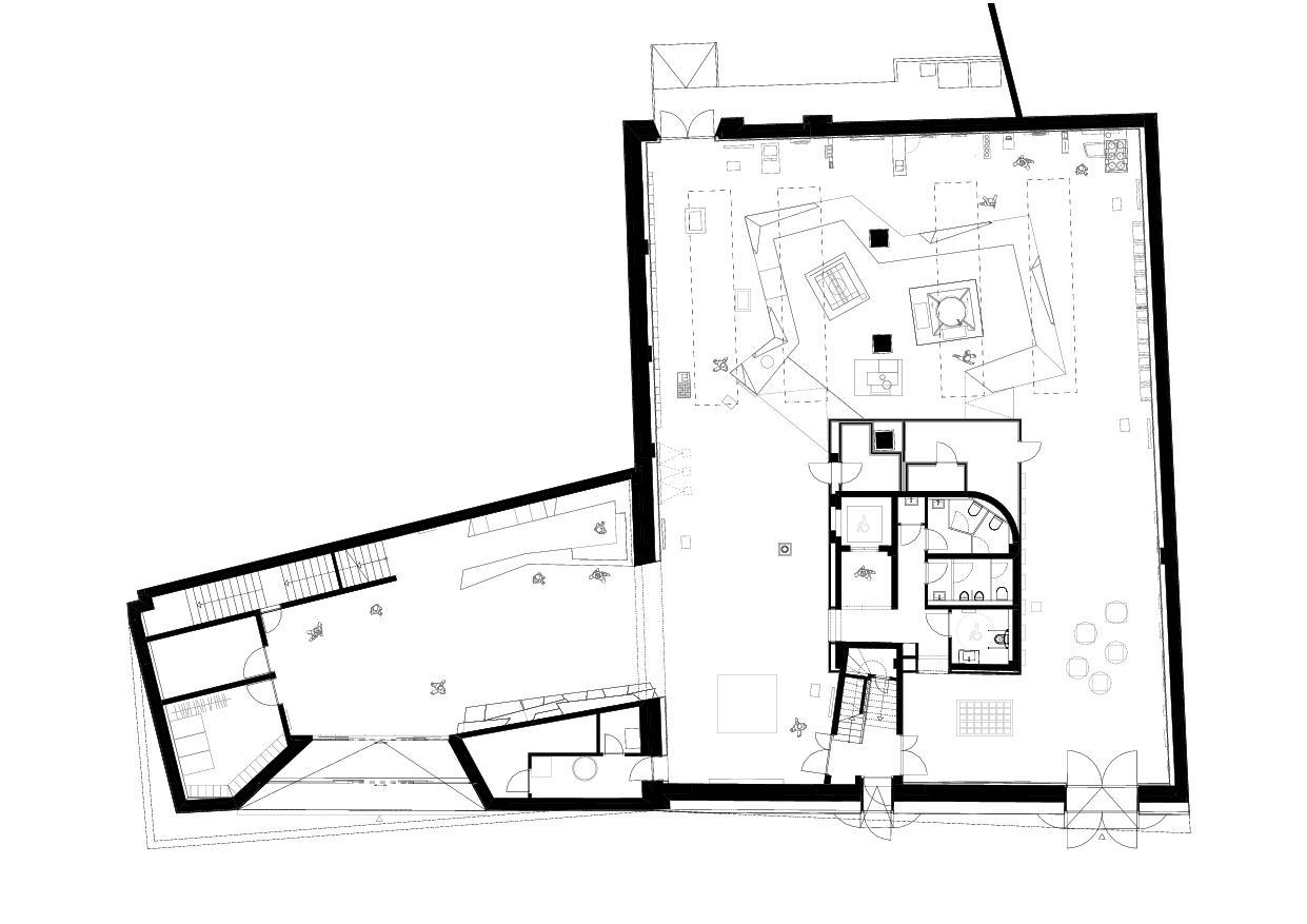 Grundriss Erdgeschoss Papiermuseum Düren von Hollenbeck Architektur
