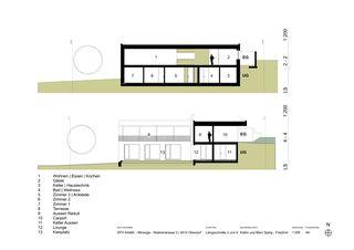 Längsschnitte 2 und 4 EFH Kama von Katrin und Marc Spirig-Friedrich Architekten