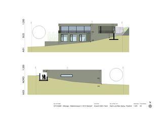 Ansicht Süd und Nord EFH Kama von Katrin und Marc Spirig-Friedrich Architekten