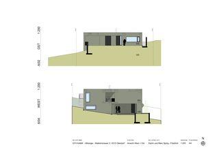 Ansicht West und Ost EFH Kama von Katrin und Marc Spirig-Friedrich Architekten