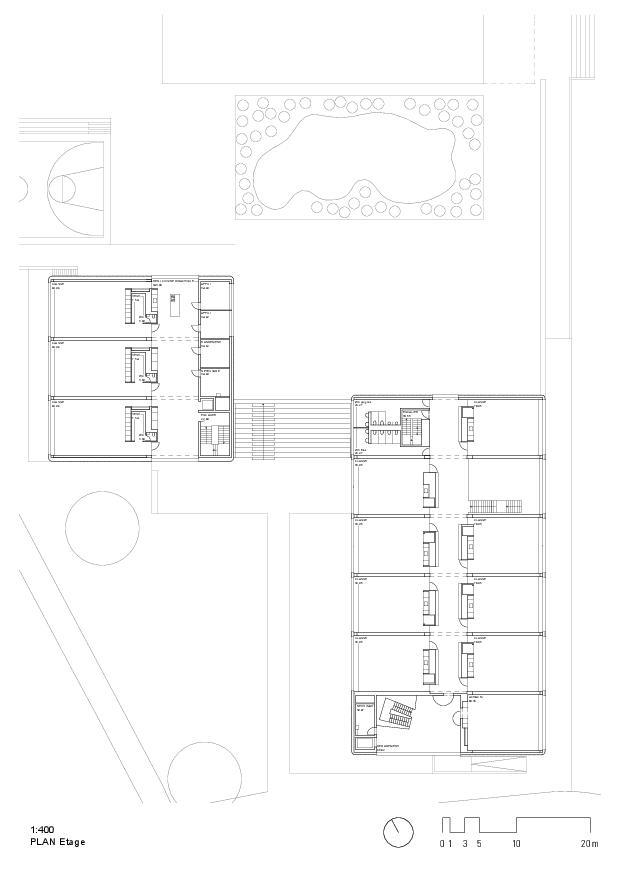 Regelgeschoss Ecole primaire et enfantine d'Ursy FR von RUFFIEUX-CHEHAB ARCHITECTES SA
