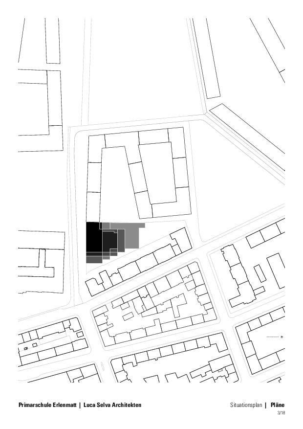 Situation Primarschule Erlenmatt in Basel de Architekten ETH BSA SIA<br/>