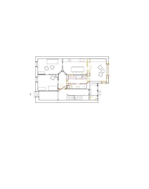 Grundriss Erdgeschoss Mehrfamilienhaus Holbeinstrasse de Beer Merz Architekten BSA