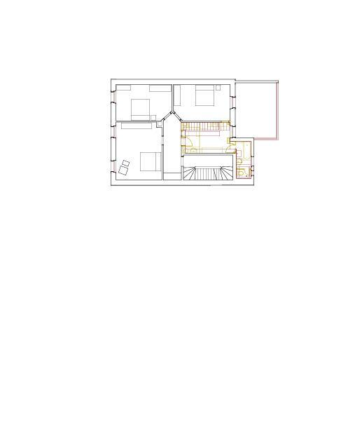 Grundriss 1. Obergeschoss Mehrfamilienhaus Holbeinstrasse de Beer Merz Architekten BSA