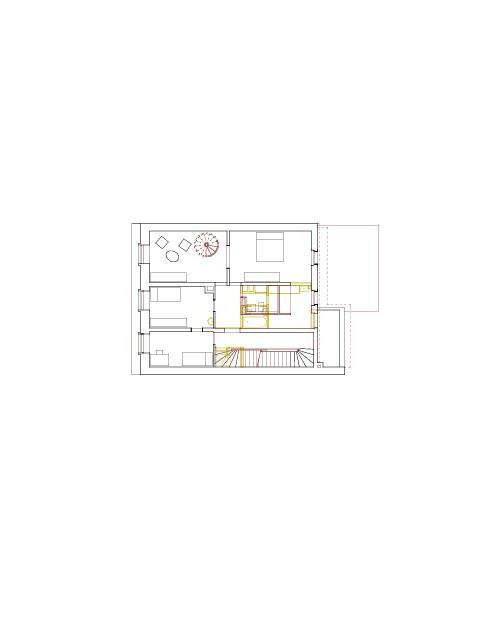 Grundriss 2. Obergeschoss Mehrfamilienhaus Holbeinstrasse de Beer Merz Architekten BSA