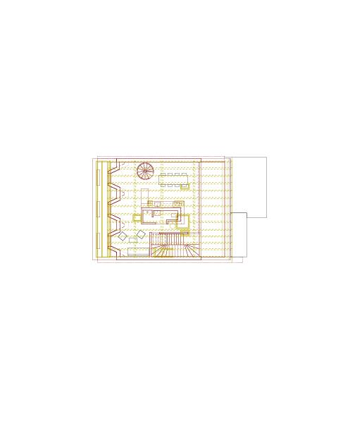 Grundriss Dachgeschoss Mehrfamilienhaus Holbeinstrasse von Beer Merz Architekten BSA