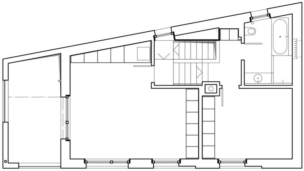 Grundriss Obergeschosse Stöckli in Bachenbülach von Hansjörg Betschart,   Architektur + Fotografie