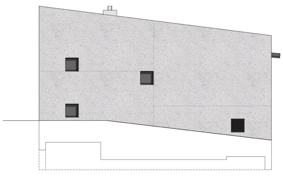 Nordfassade Stöckli in Bachenbülach von Hansjörg Betschart,   Architektur + Fotografie