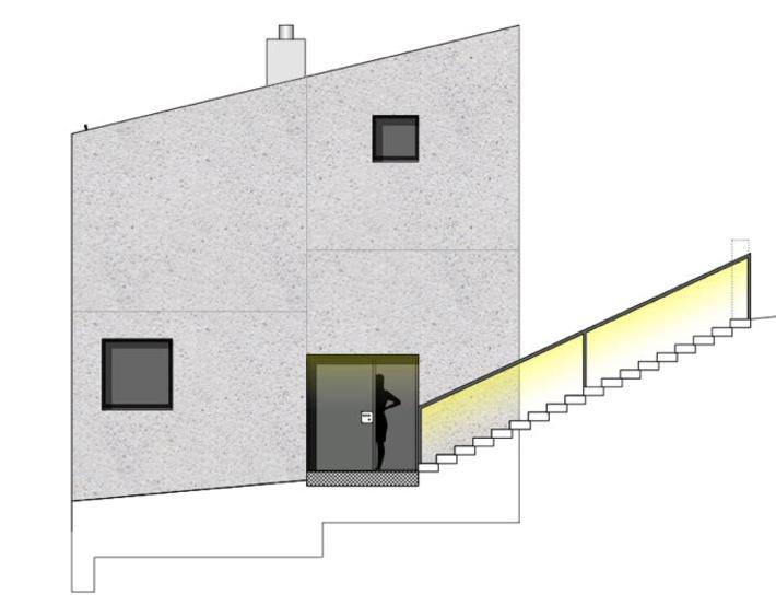Ostfassade Stöckli in Bachenbülach von Hansjörg Betschart,   Architektur + Fotografie