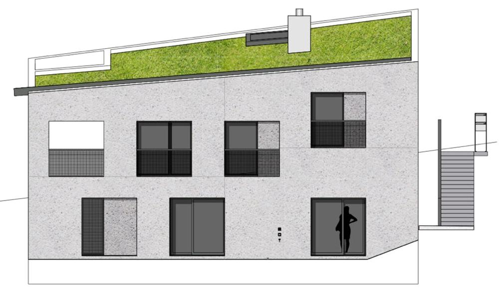 Südfassade Stöckli in Bachenbülach von Hansjörg Betschart,   Architektur + Fotografie