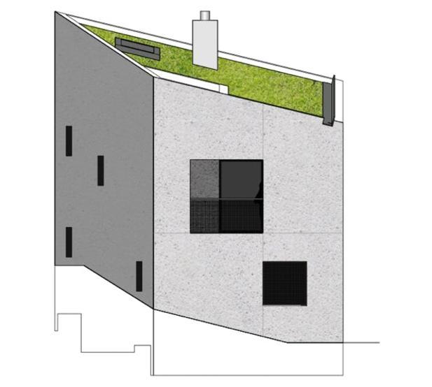 Westfassade Stöckli in Bachenbülach von Hansjörg Betschart,   Architektur + Fotografie